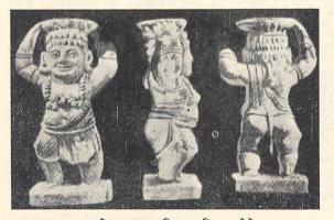 उत्खननात सापडलेल्या यक्षप्रतिमा :पितळखोरे (औरंगाबाद),मध्य अश्ययुग.