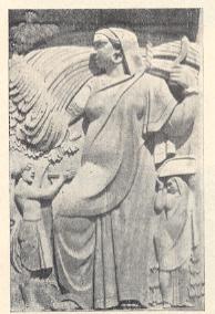 ' न्यू इंडिया ॲशुरन्स कंपनी ' च्या इमारतीवरील उत्थित शिल्प –ना.ग. पाणसरे,मुंबई.