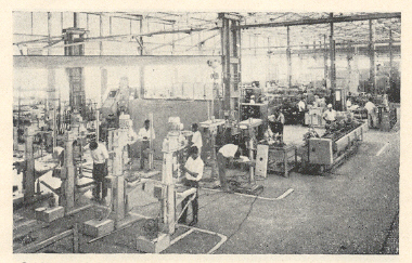'किर्लोस्कर ब्रदर्स 'कारखान्यातील मशीन-टूल विभाग,किर्लोस्करवाडी.