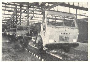 पुण्याच्या टेल्को कारखान्यातील मालमोटारी तयार करणारा विभाग