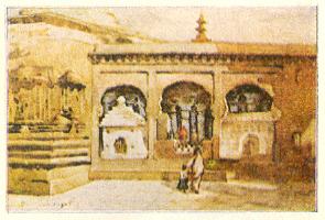 'जगदंबा प्रवेशद्वार' (१९२५), जलरंगचित्र--माधवराव बागल.