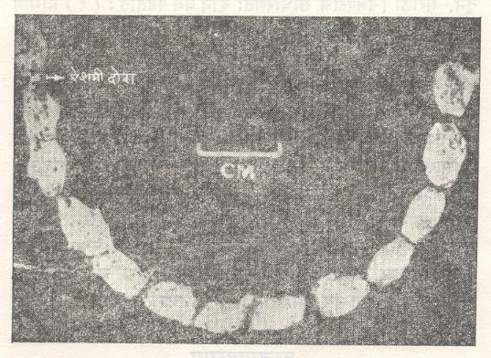 तांब्याच्या मण्यांची माळ, ताम्रपाषाणयुग, इ. स. पू. १३००.