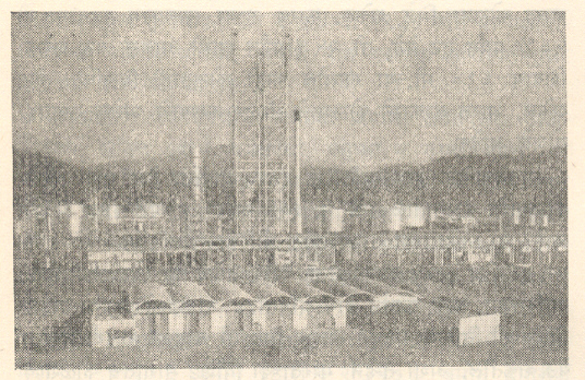 नूनमती (आसाम) येथील तेल परिष्करण कारखान्याचे दृश्य