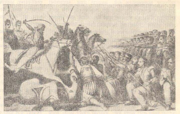 हिंदुस्थानी घोडदलाचा इंग्रजी फौजेवर हल्ला, कानपूर, २५ जुलै १८५७.