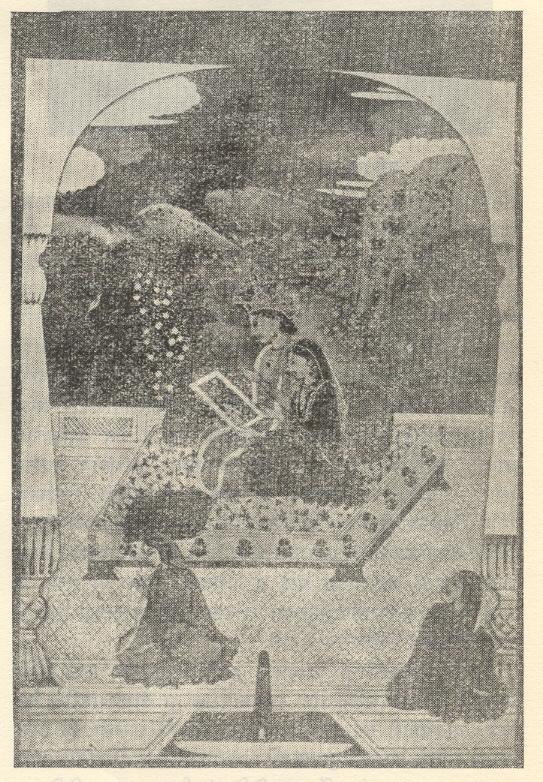 'राधाकृष्णाचे आदर्श प्रसाधन', कांग्रा चित्रशैली, १७८०-१८००