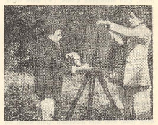 भारतीय चित्रपटसृष्टीचे जनक दादासाहेब फाळके : कॅमेऱ्यासमोर, १९१२.