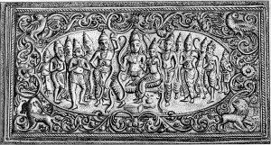 रामराज्याभिषेक : उत्थित काष्ठशिल्पाची चौकट