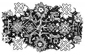 आलंकारिक कॉकेशियन शैलीचा नमुना