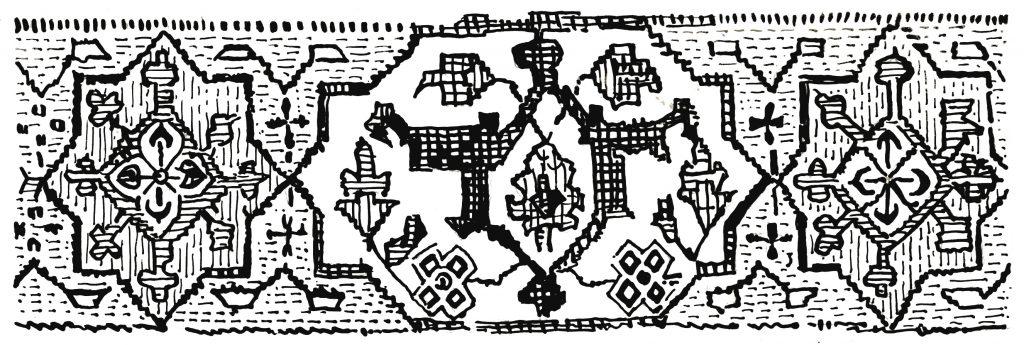 भौमितिक शैलीतील काठ