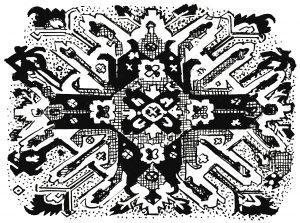इराणी गालिच्यावरील सूर्यप्रतिमा